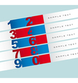 Template of numbers vector image