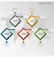 time line info graphic with design element cubes vector image vector image
