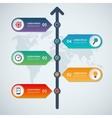 timeline infographic arrow elements vector image vector image
