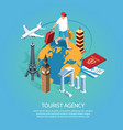 tourist agency isometric background vector image