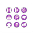 Valentines day 14 February icon vector image vector image