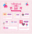 valentines day infographic elements icons over vector image vector image