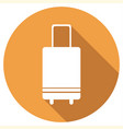 vintage luggage icon in flat design with long vector image