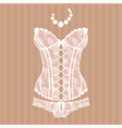 Vintage sexy guipure corset vector image