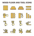 Wood floor construction vector image vector image