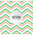 zigzag pattern red yellow green line background ve vector image