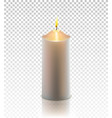christmas realistic golden candle isolated vector image
