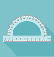 semi circle ruler in real scale vector image