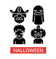 halloween thin line icons linear vector image