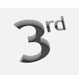 3rd number design vector image