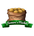 A sack of potatoes vector image vector image