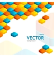 Abstrast cube background vector image