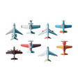 aircraft top view civil and military airplanes vector image vector image