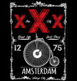 amsterdam vintage poster vector image vector image