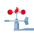 Anemometer Device Used for Measuring Wind Speed vector image