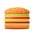 big tasty burger isolated on vector image vector image