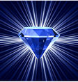 Blue diamond on bright background vector image vector image