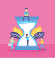 business people hourglass vector image vector image