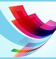 business technology colorful wave background vector image