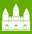 castle tower icon green vector image vector image