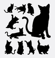 Cat action silhouettes vector image vector image