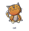 cat icon cartoon style vector image