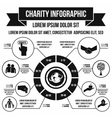 Charity infographic simple style vector image vector image