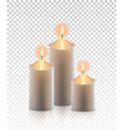 Christmas realistic golden candle isolated