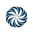 circle blue flower logo template design eps 10 vector image vector image