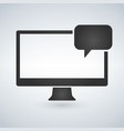 computer and chat bubble icon isolated on modern vector image vector image