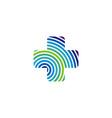 cross health care logo template design eps 10 vector image vector image