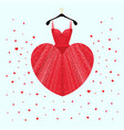 dress for valentine day party card vector image vector image