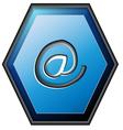 E-mail contact button vector image vector image
