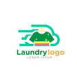 fast laundry logo vector image vector image