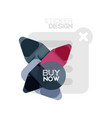 flat design triangle arrow shape geometric sticker vector image vector image