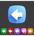 Flat icon arrow left vector image vector image