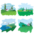 four landscape vector image vector image