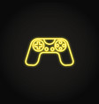 game controller icon in glowing neon style vector image vector image