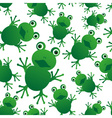 green frog animal looks at you seamless pattern vector image