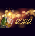 happy new year 2022 with golden vector image