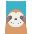 happy sloth vector image