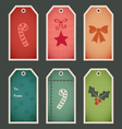 Holiday christmas gift tags vector image
