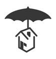 home umbrella protection vector image vector image