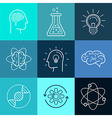 icons and signs in trendy linear style vector image vector image