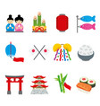 japan tradition food travel asia cartoon vector image