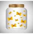 Jar mason fashion glass vector image vector image