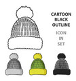 knit cap icon in cartoon style isolated on white vector image vector image