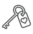 love key line icon valentine and holiday heart vector image vector image