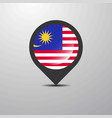 malaysia map pin vector image