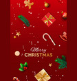 merry christmas background design with fir vector image vector image